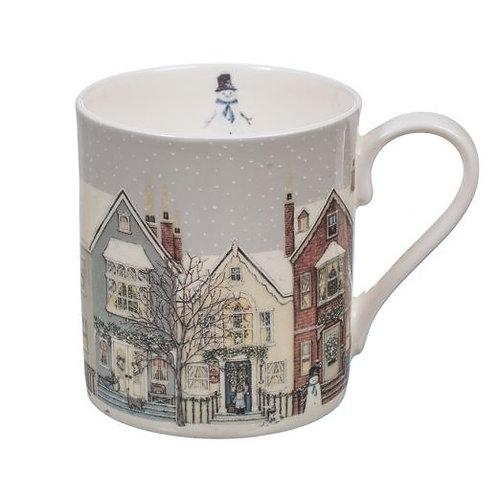 Wrendale Sally Swannell Snowy Street Mug
