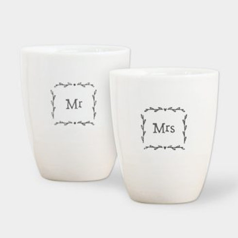 East of India Mr and Mrs Egg Cups