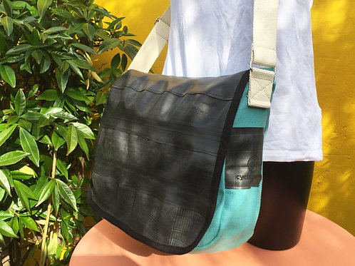 Cycle of Good Courier Bag (Blue)