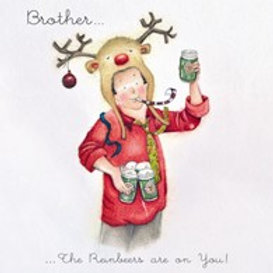 Berni Parker Brother - The Rainbeers are on you Card