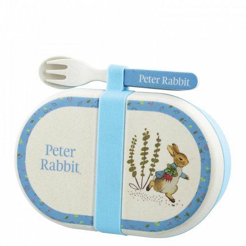 Peter Rabbit Organic Snack Box and Cutlery Set