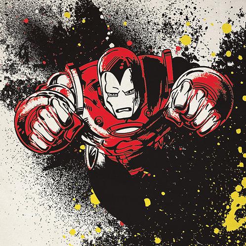 Iron Man Splatter Canvas 40x40cm
