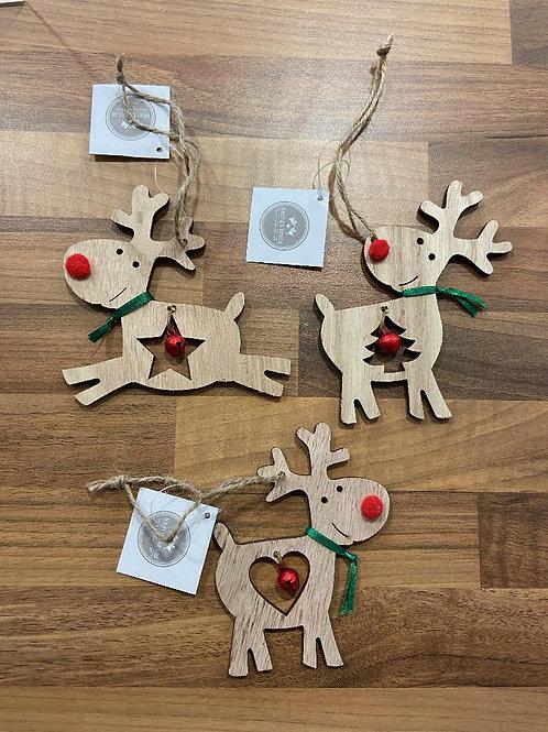 Reindeer Hanging Decoration - Various Designs