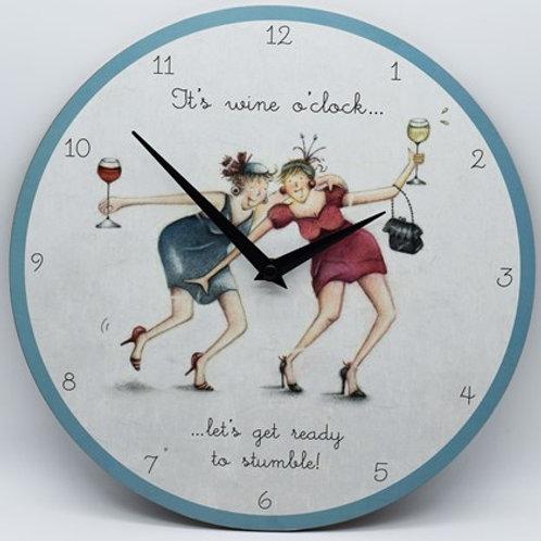 Its Wine o'clock - Clock
