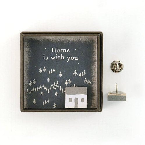 Home is with you Lapel Pin