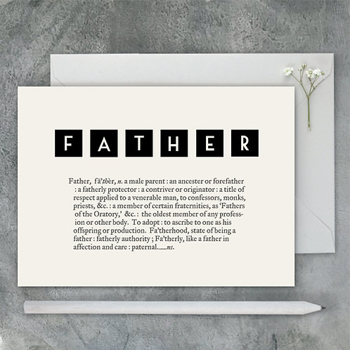 East of India Dictionary Card - Father