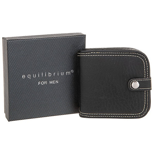 Equilibrium Stitch Detail Black Coin Purse