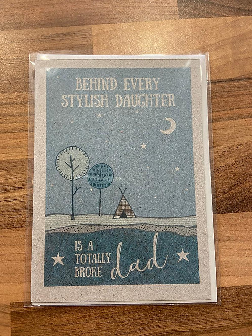 East of India Totally broke dad Card