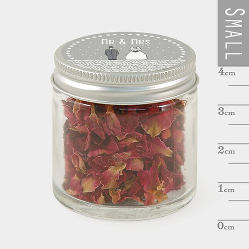 East of India Mr and Mrs Little Jar of Petal Confetti