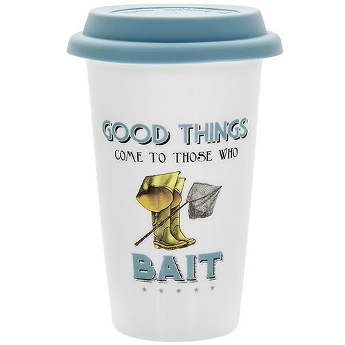 Cheeky Sports Fishing Travel Mug