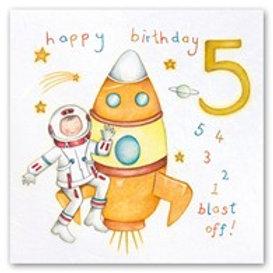 Happy Birthday... 5 4 3 2 1 blast off!... 5 Berni Parker Card