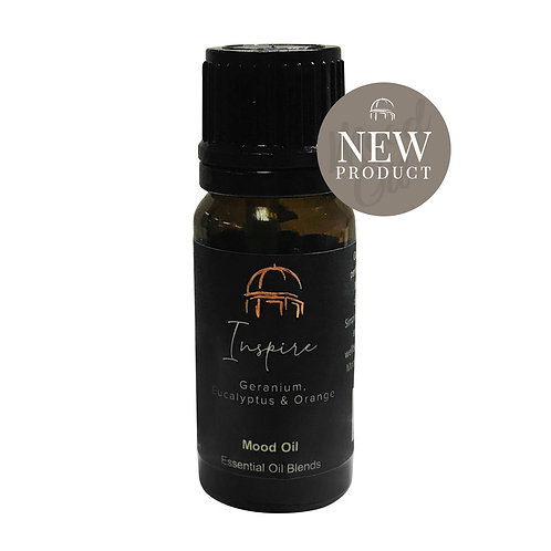 Harrogate Candle - Inspire - Geranium, Eucalyptus and Orange Essential Mood Oil