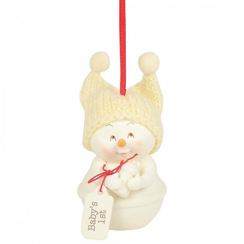 Baby's 1st Christmas Snow Baby Ornament