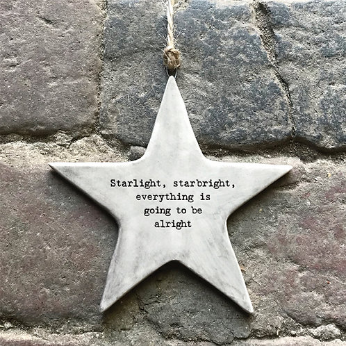 East of India Rustic Hanging Star - Starlight, Starbright
