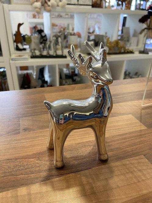 Silver Reindeer Figurine