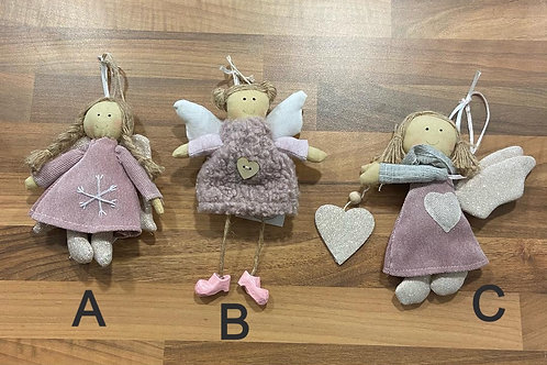 Fabric Hanging Angels - Various Designs