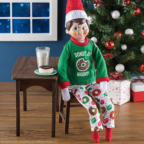 CLAUS COUTURE COLLECTION® DONUT BE NAUGHTY PJS (SCOUT ELF NOT INCLUDED)