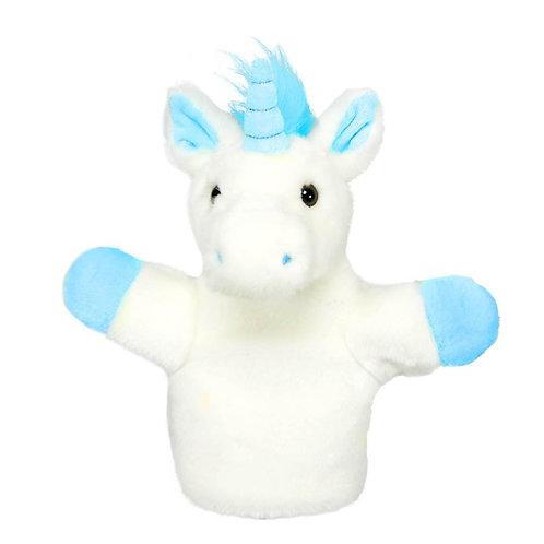 Blue Unicorn Car Pets Puppet