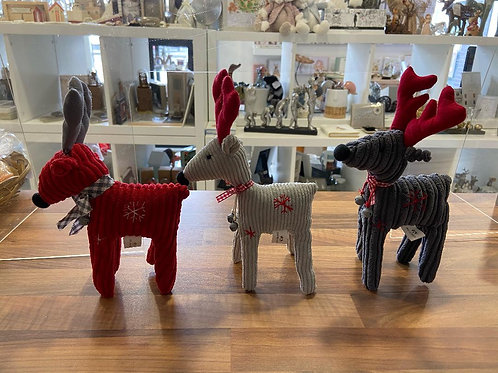 Fabric Reindeer's with Bells - Various Colours
