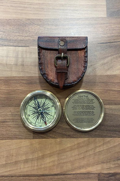 Shared Earth Compass in Leather Case