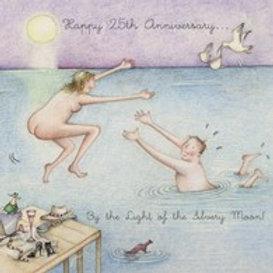Happy 25th Anniversary Berni Parker Card