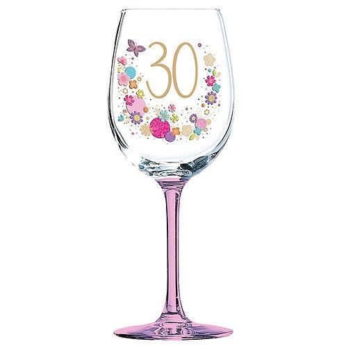 Lulu 30th Birthday Wine Glass