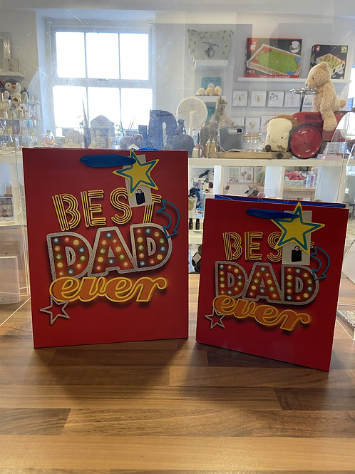 Best Dad Ever Gift Bag - Various Sizes