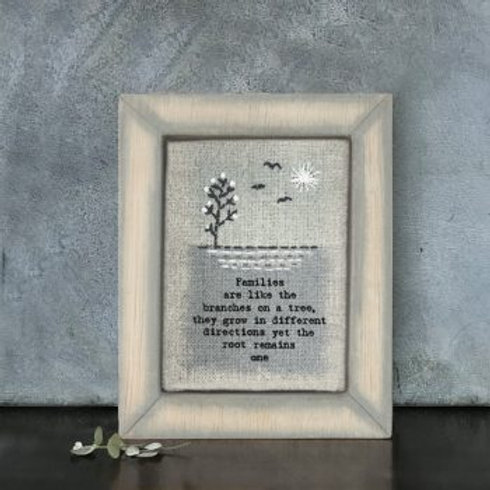 Families... Embroidered Picture