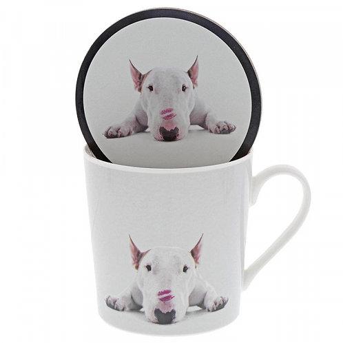 Jimmy the Bull Lipstick Kisses Mug & Coaster Set