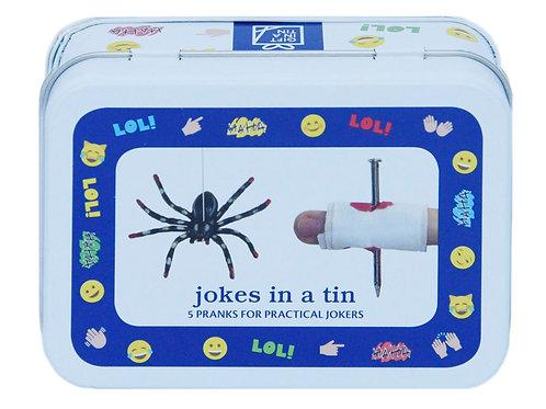 Jokes in a tin