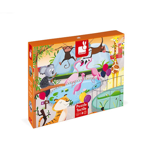 Tactile Puzzle - A Day at the Zoo