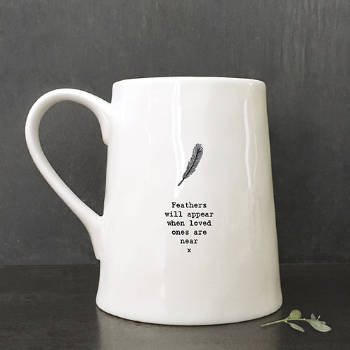 East of India Porcelain Mug - Feather/Feathers will appear