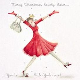 Berni Parker Merry Christmas Lovely Sister Card
