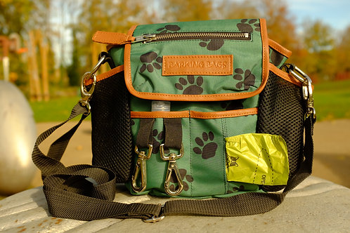 Barking Bags Canvas Green Paw Design