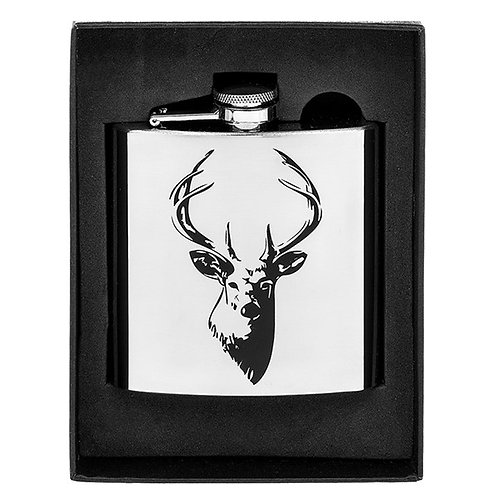 Stag Hip Flask 6oz