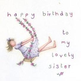 Happy Birthday Sister Berni Parker Card
