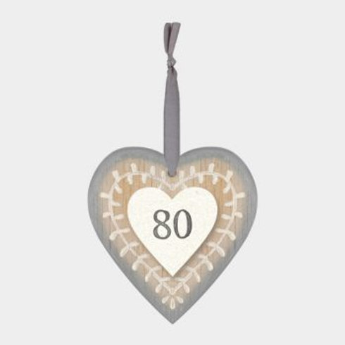 80 Wooden Heart Hanger