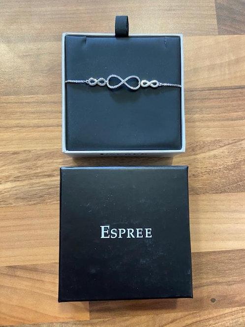 Espree London Rhodium Infinity Bracelet