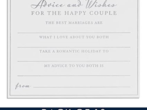Amore Pack of 10 Wedding Advice Cards
