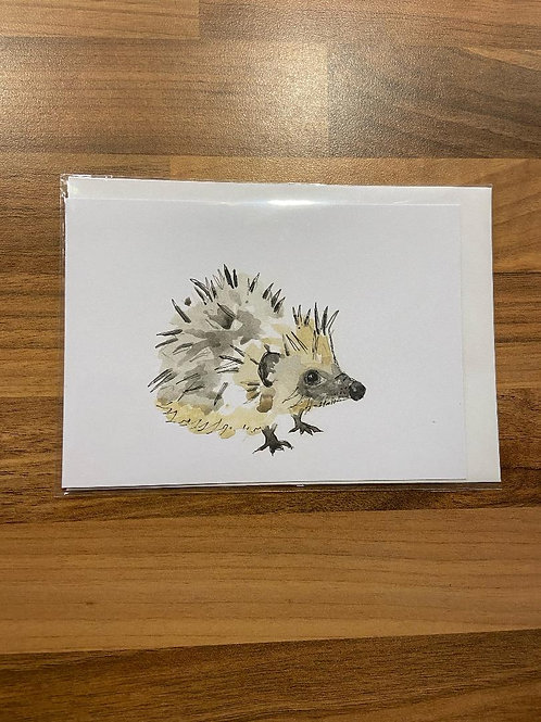 Hare in the Sweater - Hedgehog Card