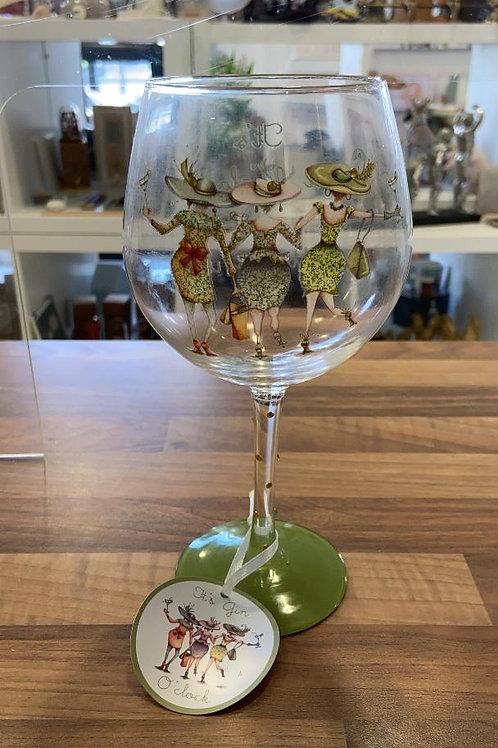 Berni Parker It's Gin O'Clock Gin Glass