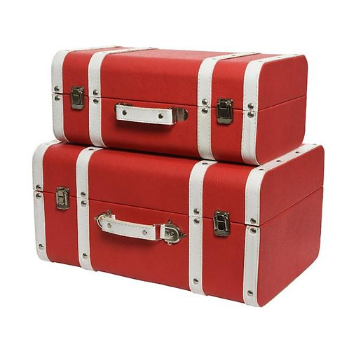 Leather Suitcase Set of 2