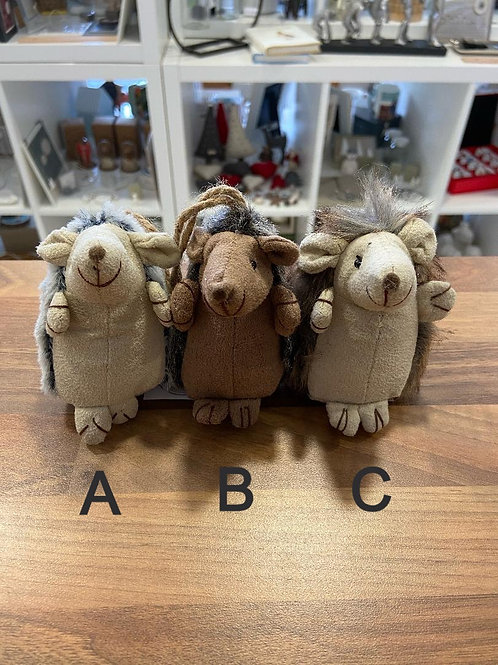 Fabric Hedgehog Hangers - Various Colours