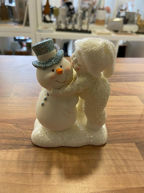 A Kiss For The Man I Love - Snow Baby Figurine