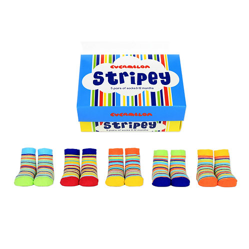 Cucamelon Stripey Baby Socks
