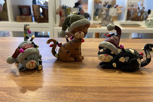 Set of 3 Christmas Cats