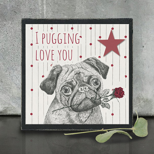 East of India Pugging Love You Small Block