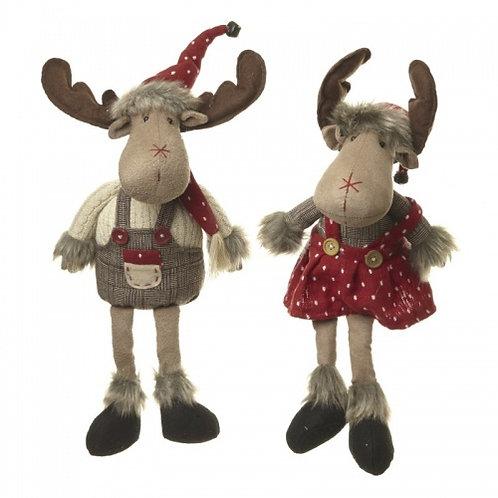 Long Leg Sitting Boy & Girl Moose