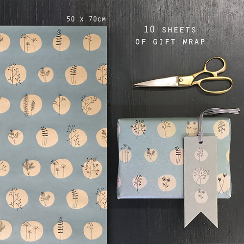 East of India Sheets of Gift Wrap - Hedgerow