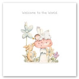 Welcome to the World! Berni Parker Card